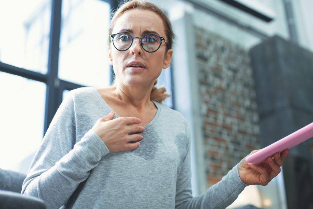 Shortness of breath and hot flush